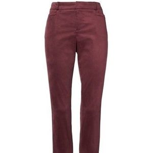 Banana Republic Cranberry Sloan Slim Velvet 14